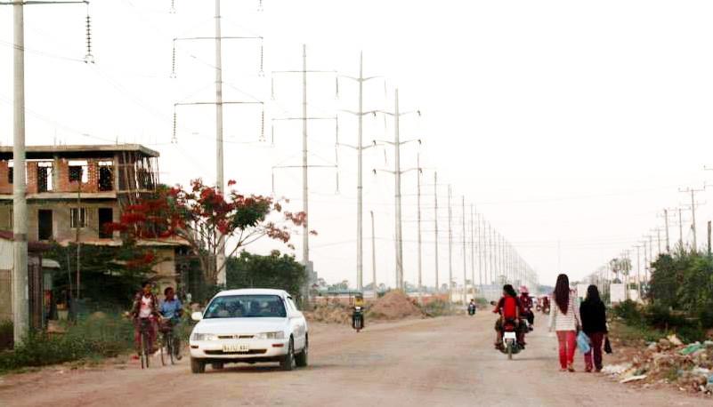 Dans la banlieue de Phnom Penh