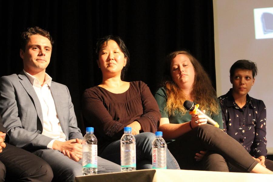 De gauche à droite : Maxime Rosburger, Estelle Maton, Hélène Grégoire et Alicia Toumi