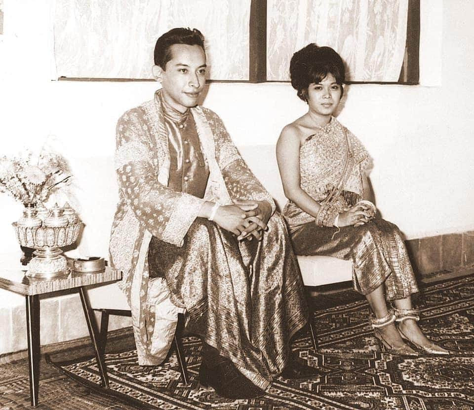 Le prince Sisowath Samyl Monipong et la princesse Norodom Daravadey 9 janvier 1967