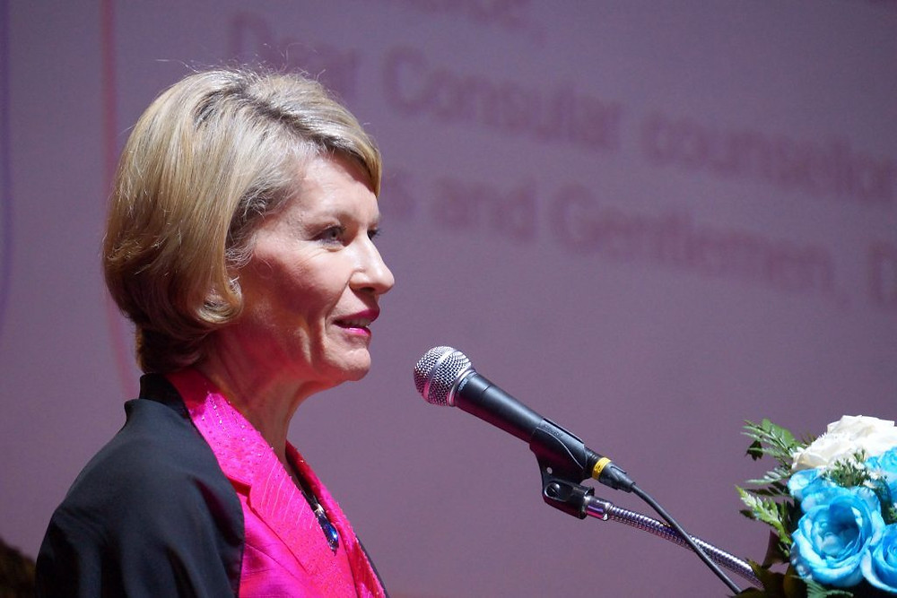 Madame Anne Genetet, députée LREM de la 11ème circonscription des Français établis hors de France venue spécialement pour cette occasion
