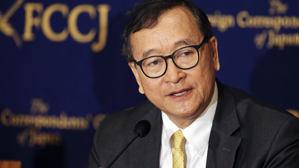 Sam Rainsy. Photographie RFA