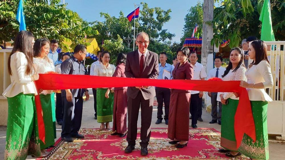 Dr. Didier Fontenille, Directeur de l'Institut Pasteur du Cambodge lors de l'inauguration