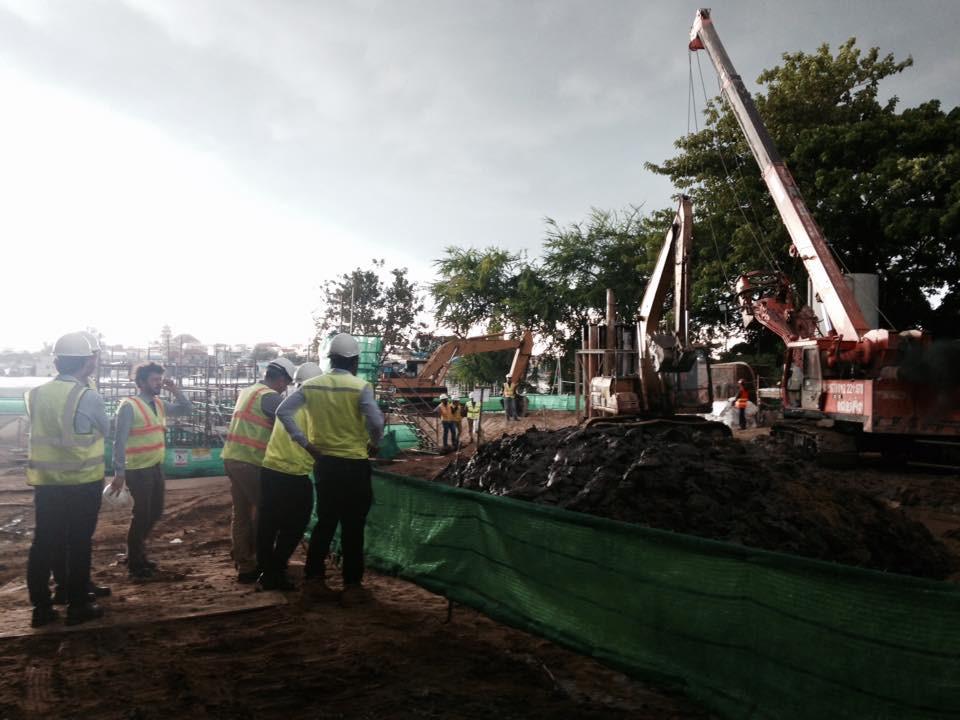 chantier actuel du projet de la station de Chamcar Mon (prise d'eau)