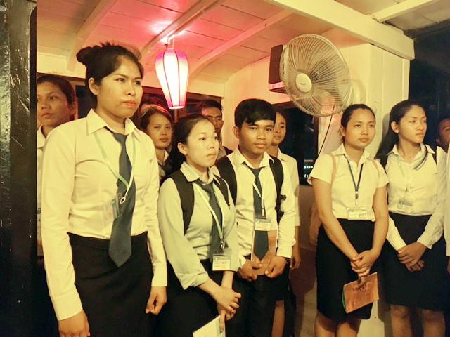 Les étudiants de l'institut Saint-Paul