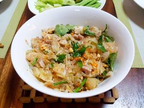 Recette du Cambodge : Salade de suprêmes de pomelo asiatique (nhoam kroch thlong)