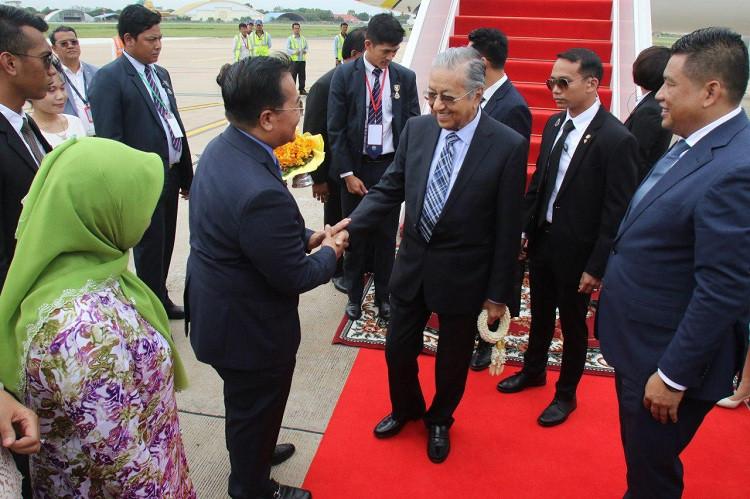 Diplomatie : Arrivée du Dr Mahathir Mohamad, Premier ministre de Malaisie