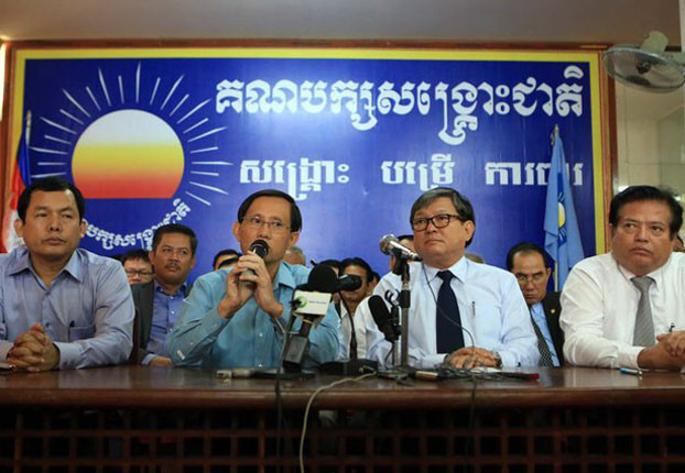Yim Sovan, porte-parole du CNRP devant la presse vendredi dernier