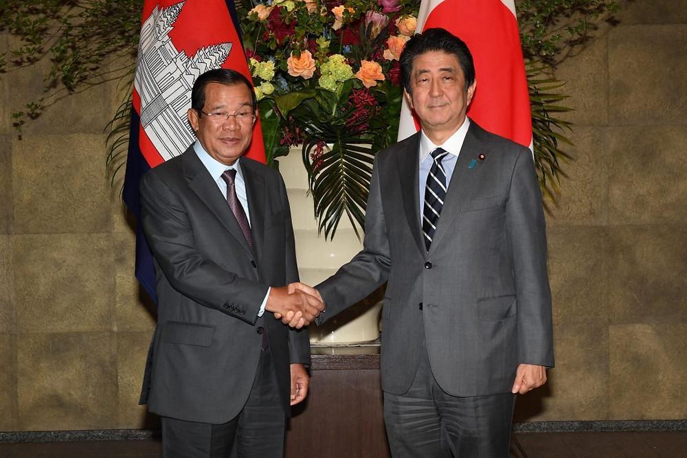 entretien avec son homologue Shinzo Abe