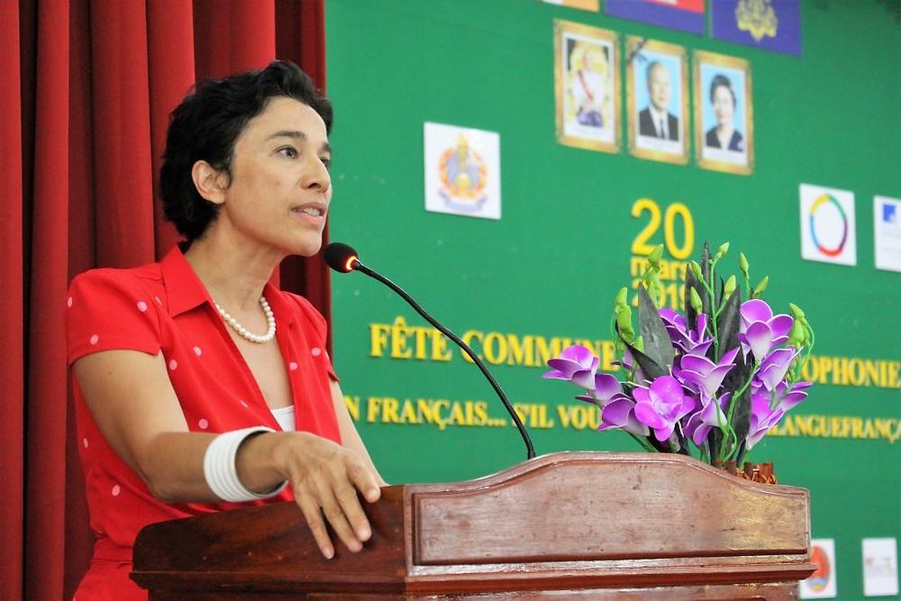 L'ambassadrice de France, Madame Eva Nguyen Binh