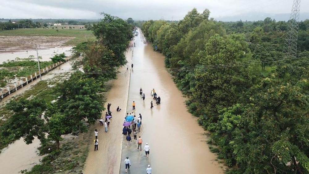 89 kilomètres de routes endommagées