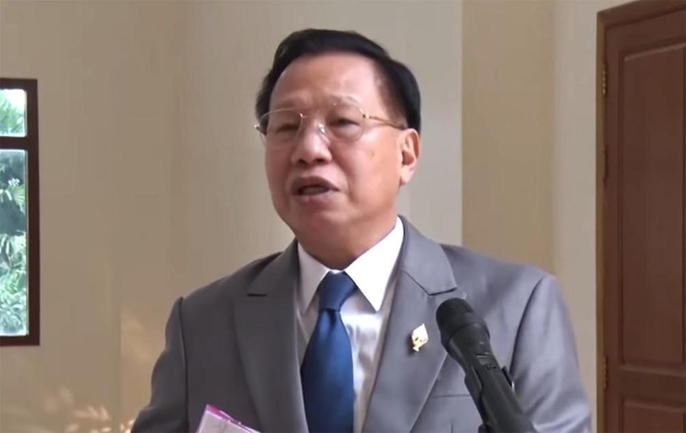 Le porte-parole de l'Assemblée nationale, Chheang Vun