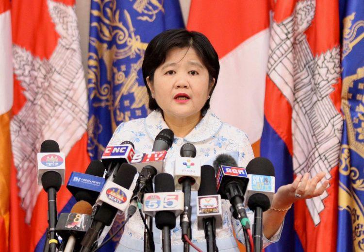 la secrétaire d'État et porte-parole du ministère de la Santé, Mme Or Vandine