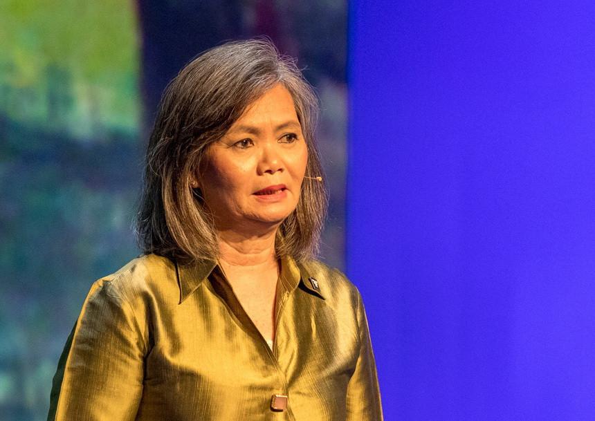 Mu Sochua est la chef adjointe du Parti national du sauvetage du Cambodge (PNSC) et l'une des femmes politiques les plus connues du Cambodge