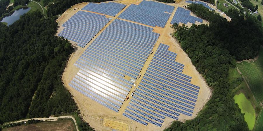 Projet solaire Omni Navitas dans le conté de Catawba. Photographie fournie