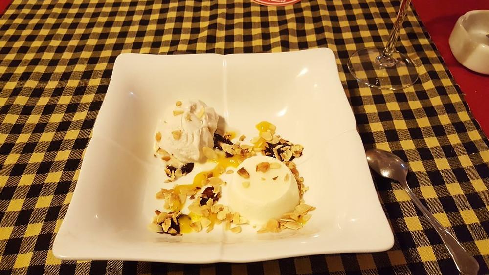 Crème glacée à la panna cotta