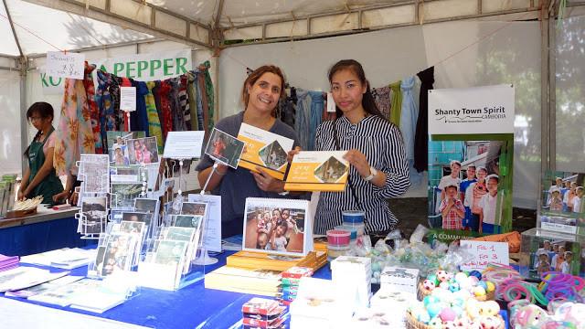 L'ONG d'Ermine Norodom qui soutient le programme d'aide aux enfants des bidonvilles ; Shanty Town Spirit, à la journée du Volontariat français 2017