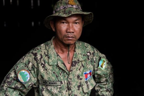 Moeun Veasna, garde forestier dans les Cardamomes