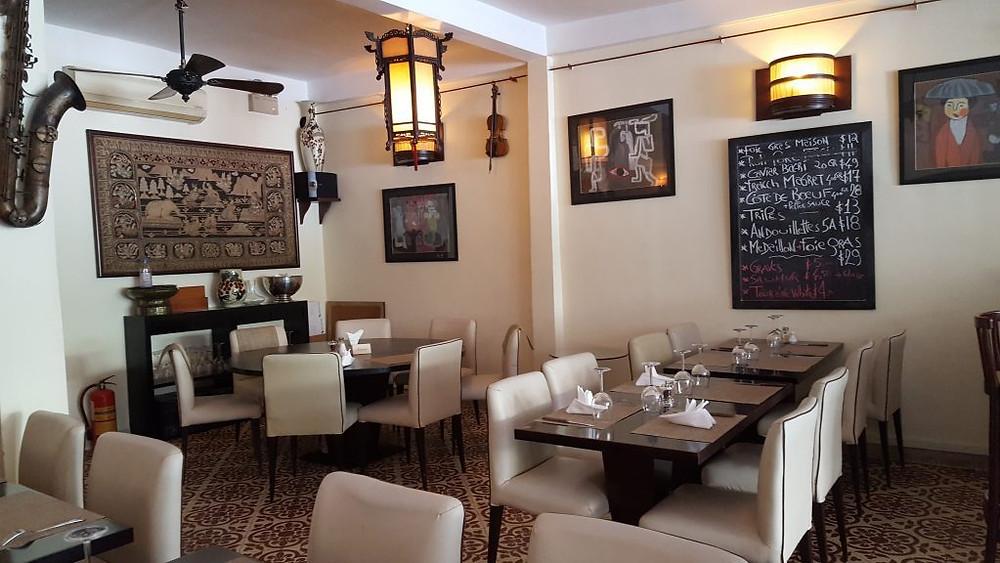 Un coin de la salle du restaurant Atmosphère