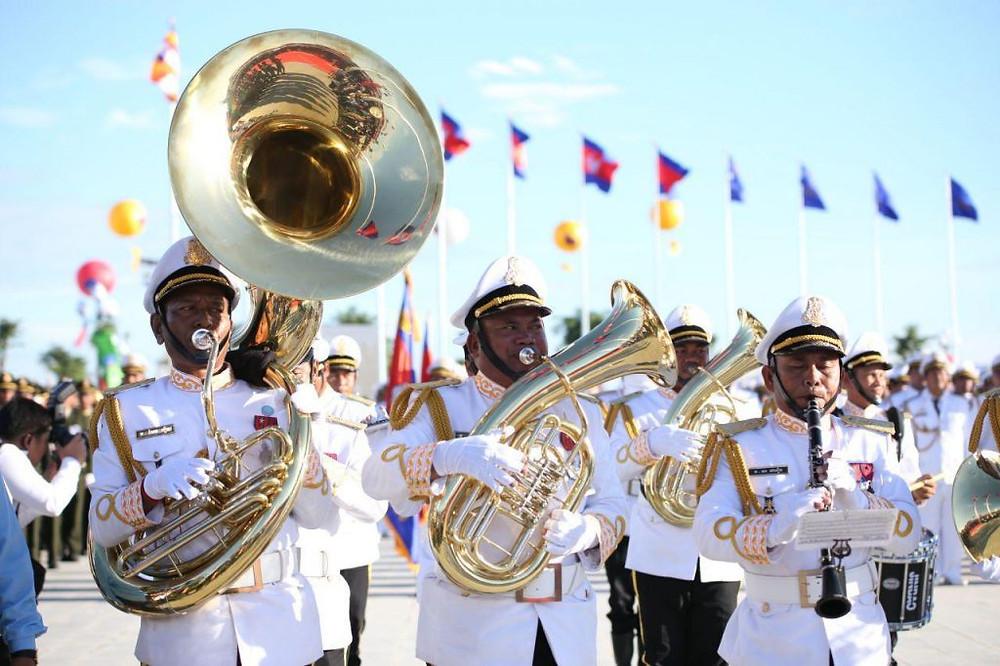 Fanfare militaire lors de la célébration