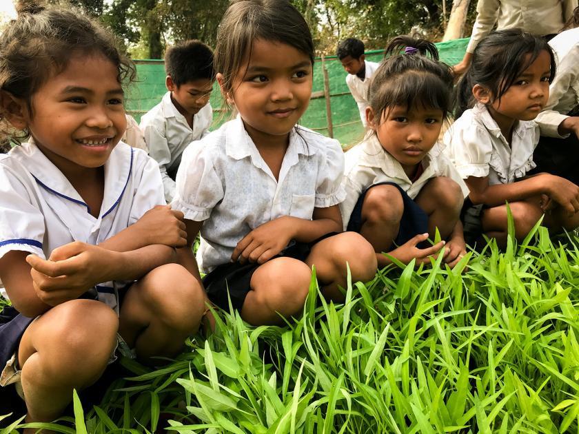 Des écoliers ouvrent la voie à l'adaptation aux changements climatiques au Cambodge