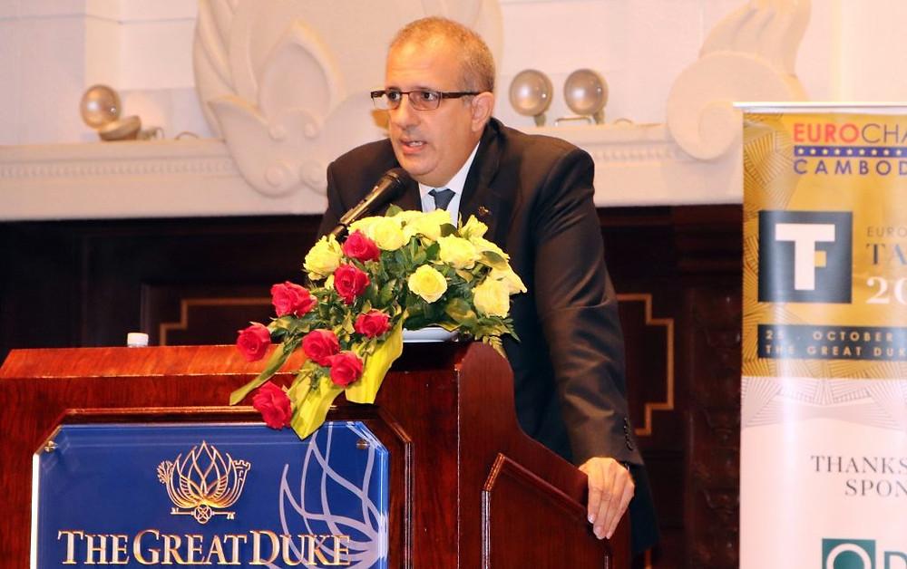 Arnaud Darc, président d'Eurocham, a prononcé le discours d'introduction du