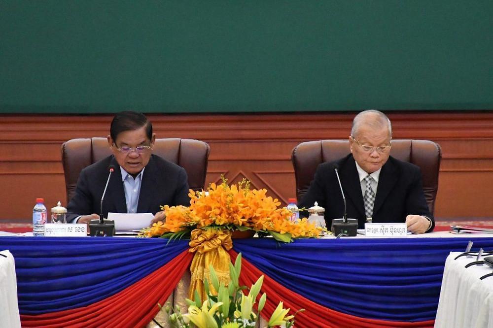 Le président du Comité national des élections (NEC) Sik Bun Hok