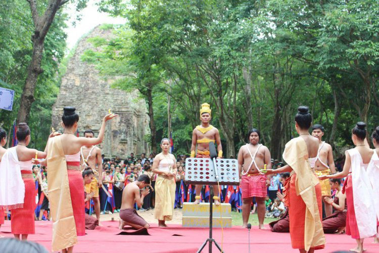 Célébration à Sambor Prei Kuk