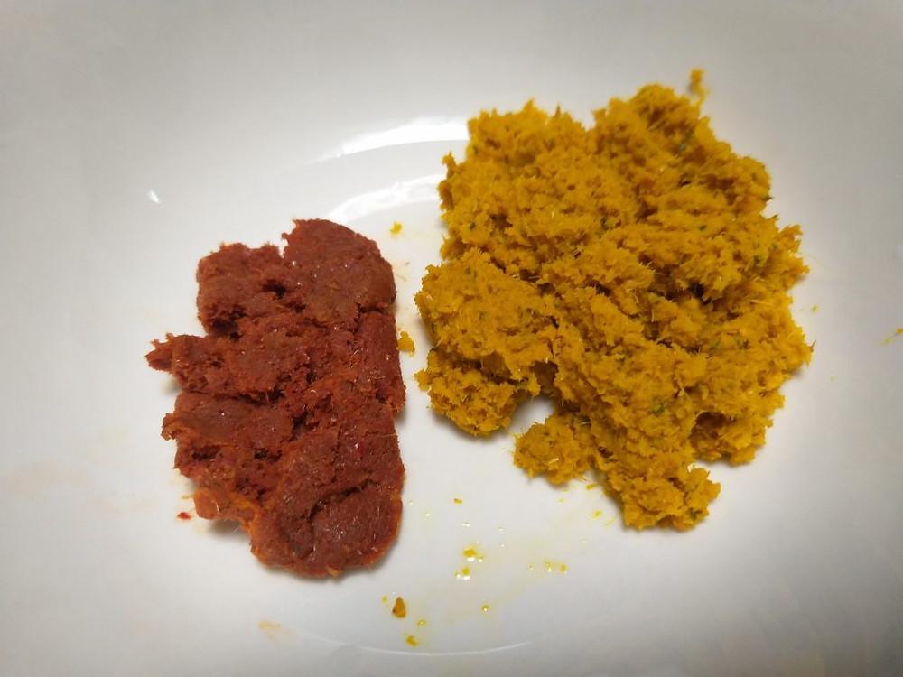 Pâte à curry et pâte de piments