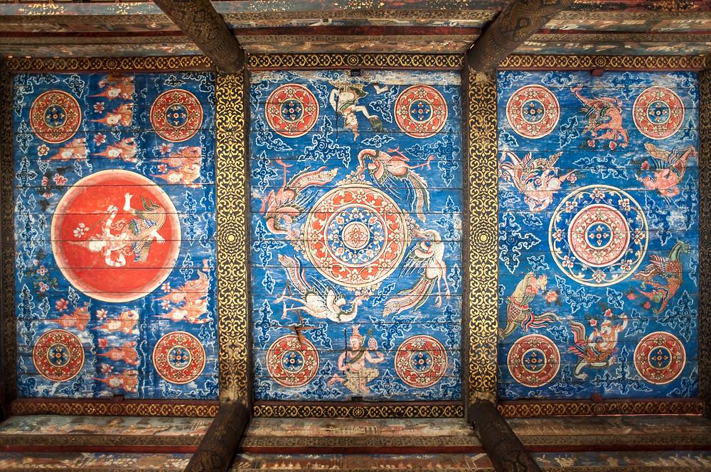 Le somptueux décor d'origine du plafond