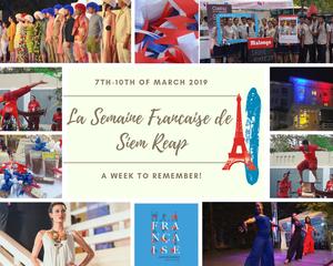 Semaine Francaise de Siem Reap : Programme officiel de l'édition 2019