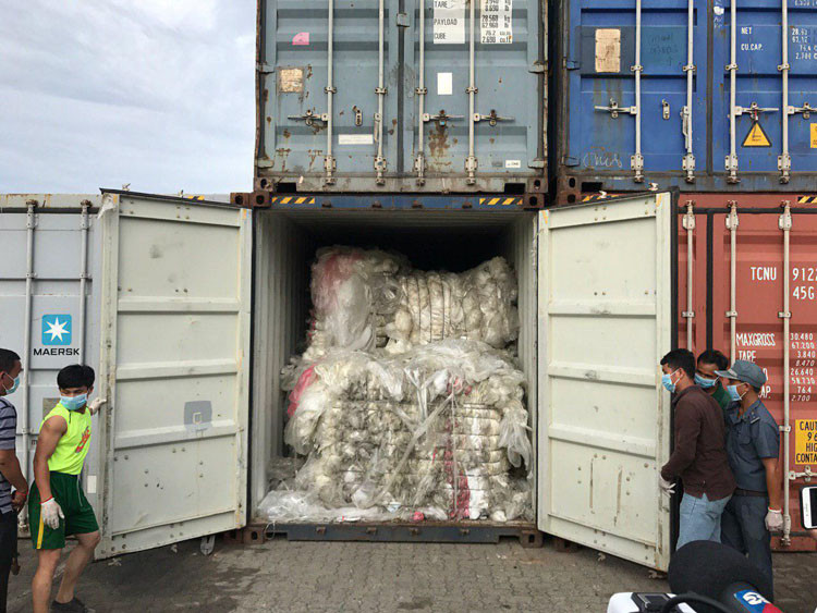 Chungyuen Plastic Manufacture Co, ltd avait introduit ces déchets dans le pays en 27 expéditions
