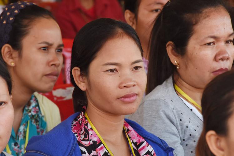 Employée du textile à Kandal