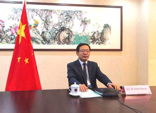 S.E. Wang Wentian, ambassadeur extraordinaire et plénipotentiaire de la République populaire de Chine