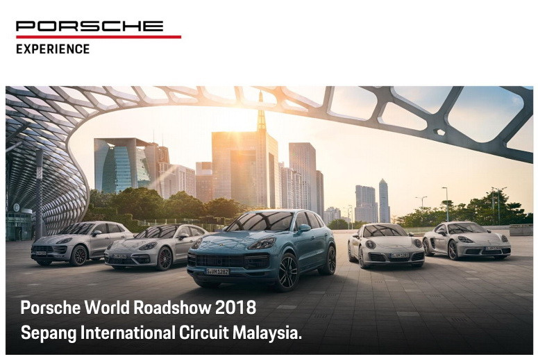 Porsche World Roadshow en Malaisie
