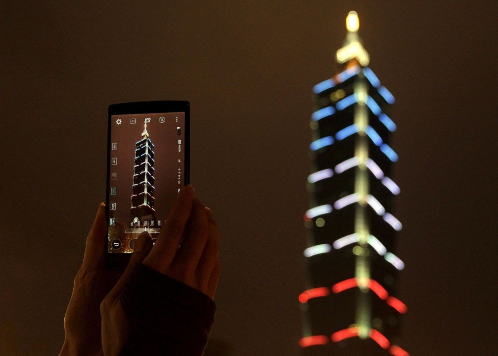 Le gratte-ciel Taipei 101 à Taïwan.