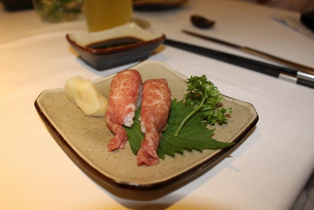 Sushi de bœuf Wagyu