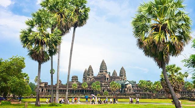 Le site archéologique d'Angkor Wat, l'une des principales attractions du royaume