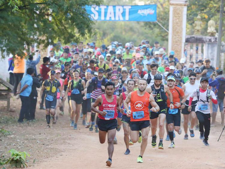 Plus de 1000 participants pour la course Angkor Ultra Trail