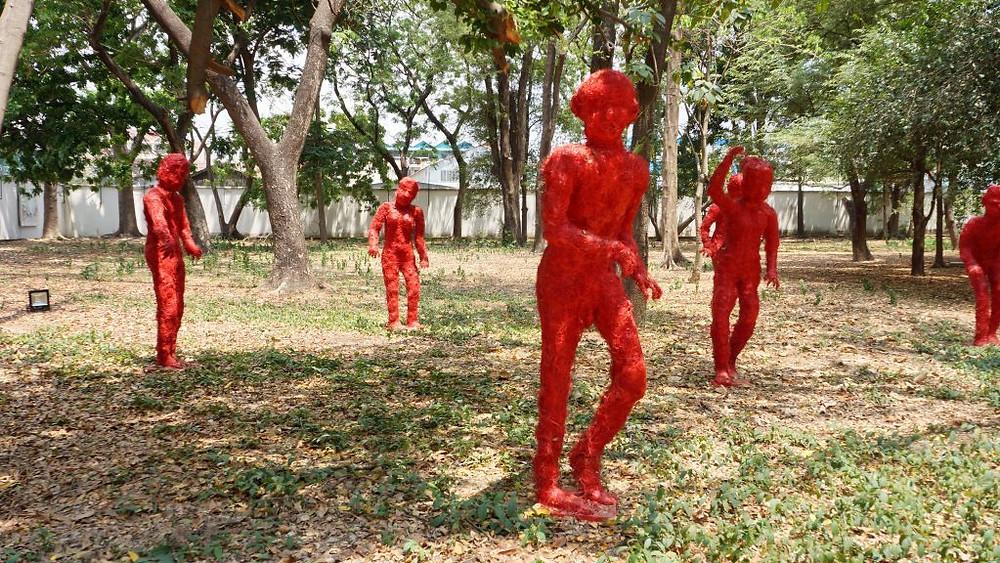 Oeuvre de Tor Vutha exposée à l'Ambassade de France