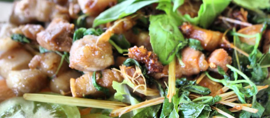 Recette du Cambodge : Poulet sauté au gingembre