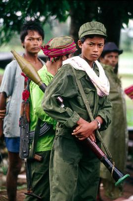 Soldat Khmer Rouge. Janvier 1992. UN Photo/J Bleibtreu