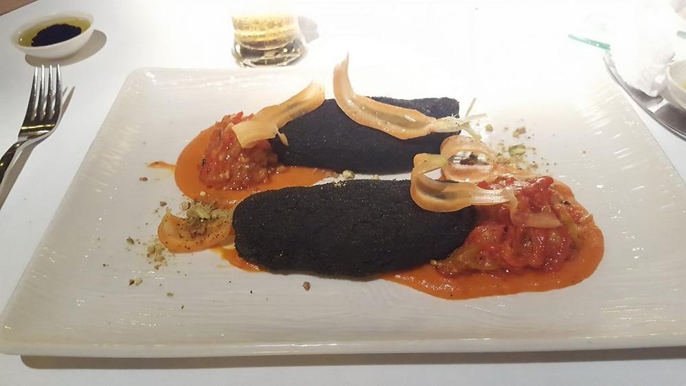 Saumon pané à l'encre de sèche