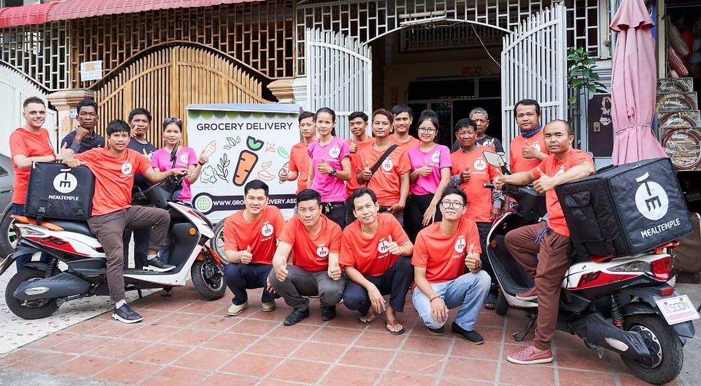 L'équipe de Meal Temple Group à phnom Penh