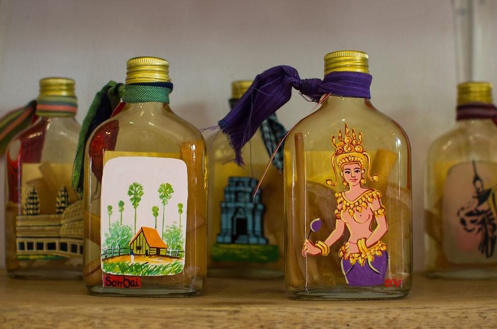 Une partie des alcools de la gamme Sombai