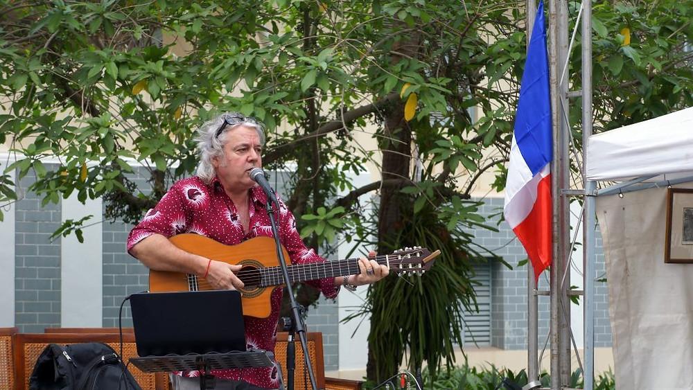 Diego Dimarqués lors de la semaine française de Siem Reap