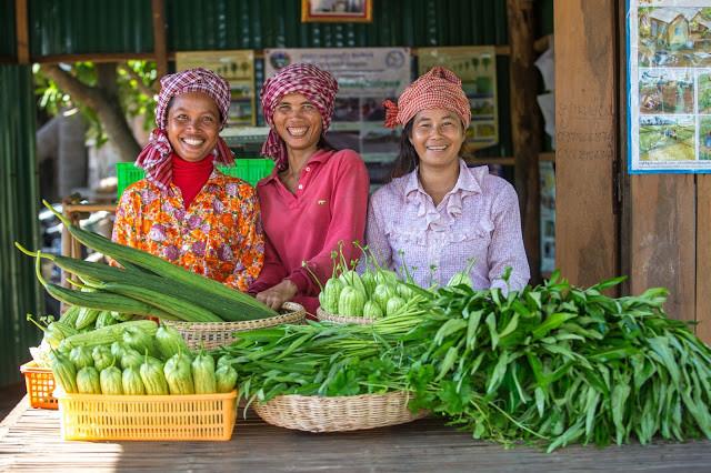 Bénéficiaires du projet ADB dans la province de Thbong Khmum. Photographie ADB