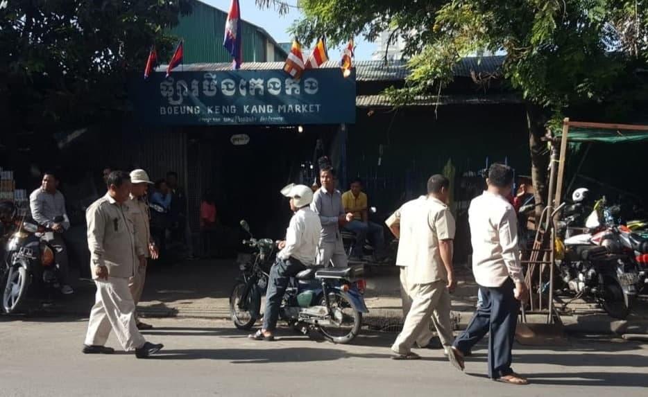 Fermeture du marché de Boeung Keng Kang suite à la découverte d'un foyer d'infections