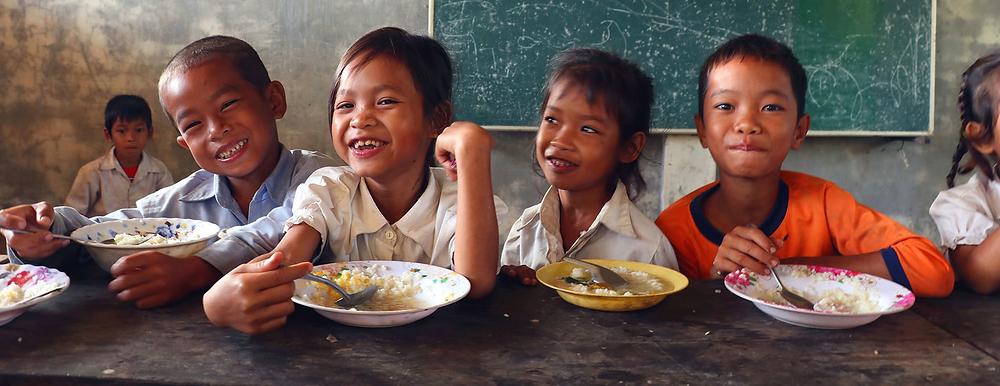 Pour les responsables du PAM, une bonne nutrition est essentielle au développement mental et physique des enfants