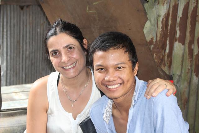 Ermine Norodom et un autre étudiant méritant