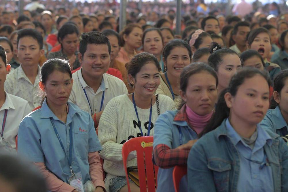 Plusieurs milliers de travailleurs venus de 12 usines de la province de Takeo